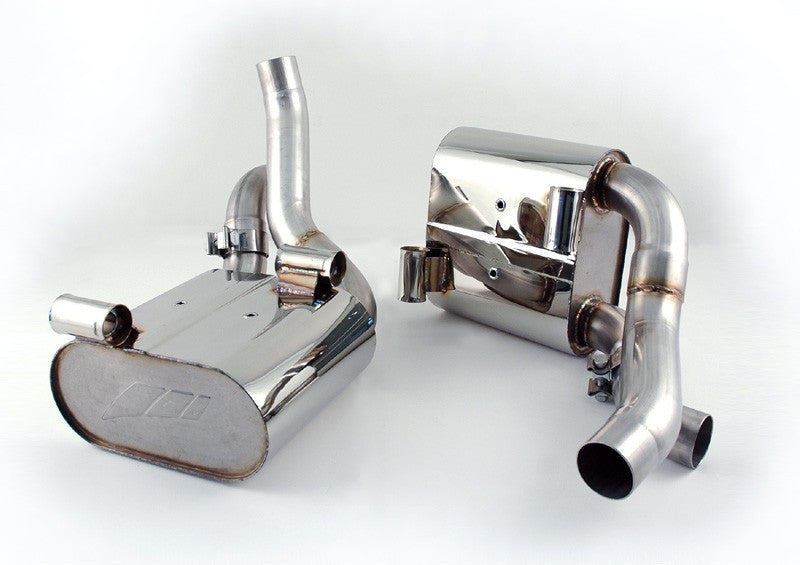 AWE Tuning Performance Mufflers (997.2 Carrera) - Flat 6 Motorsports - Porsche Aftermarket Specialists