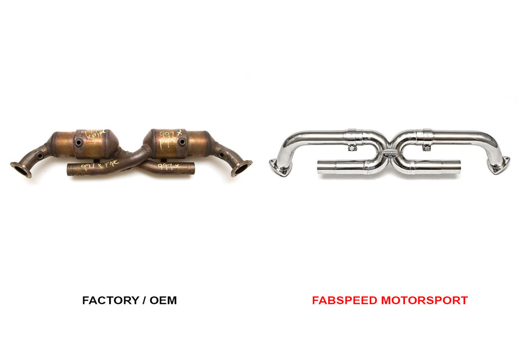 Fabspeed Catbypass X-Pipe (997.1 Carrera) - Flat 6 Motorsports - Porsche Aftermarket Specialists