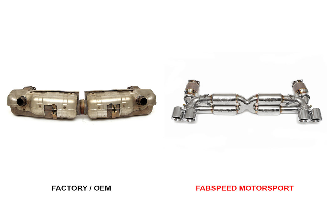 Fabspeed Supersport 70mm X-Pipe Exhaust System (997.1 Turbo) - Flat 6 Motorsports - Porsche Aftermarket Specialists
