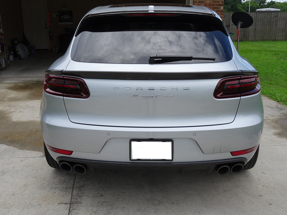 Agency Power Gloss Carbon Fiber 3 Piece Middle Spoiler (Macan) - Flat 6 Motorsports - Porsche Aftermarket Specialists