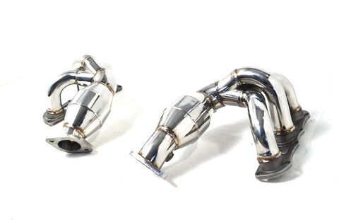 Agency Power High Flow Cat Headers (Cayman / Boxster 981)