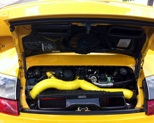 Agency Power Carbon Fiber High Flow 3inch Y-Pipe Kit (996 Turbo) - Flat 6 Motorsports - Porsche Aftermarket Specialists