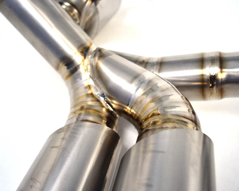 Agency Power Titanium Exhaust System w/ Quad Tips (997.1 Carrera) - Flat 6 Motorsports - Porsche Aftermarket Specialists