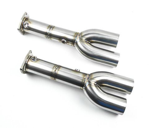 Agency Power Race Cat/Muffler Delete Pipes w/ Quad Tips (997.1 Turbo) - Flat 6 Motorsports - Porsche Aftermarket Specialists