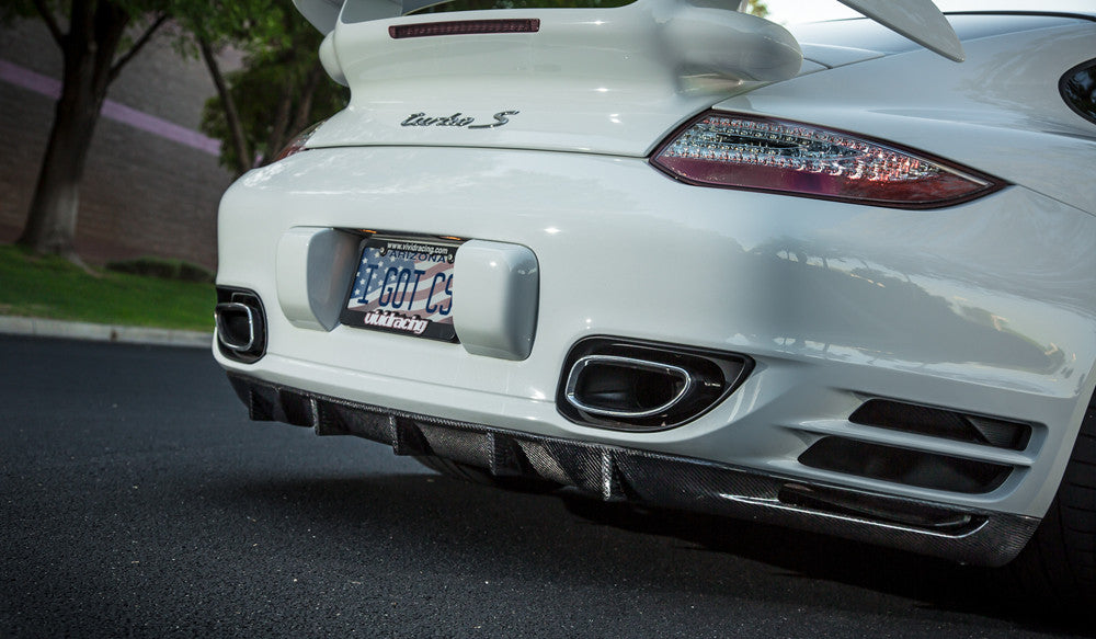 Agency Power Carbon Fiber Strake Diffuser (997 Turbo) - Flat 6 Motorsports - Porsche Aftermarket Specialists