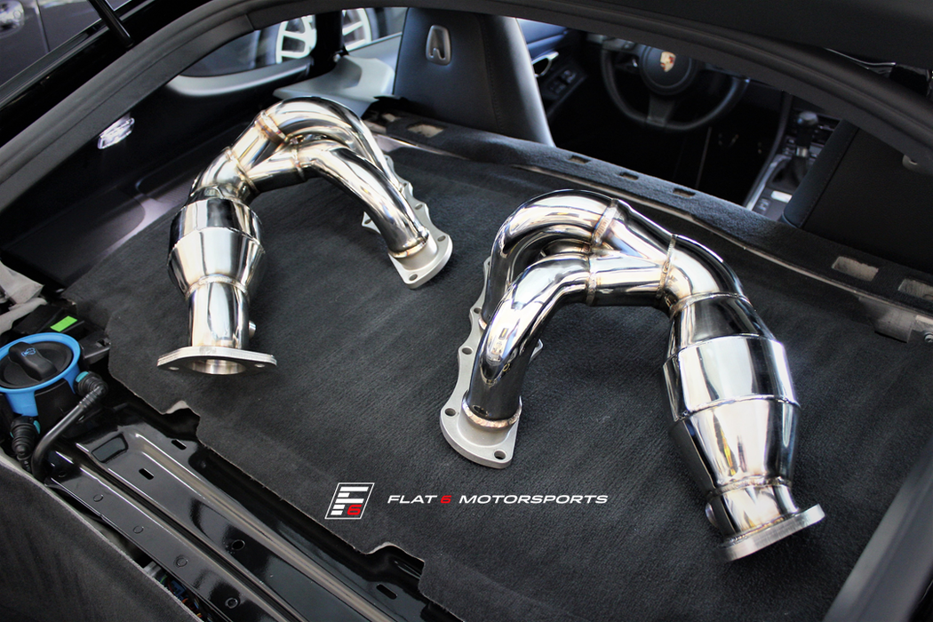 Agency Power High Flow Cat Headers (Cayman / Boxster 981) - Flat 6 Motorsports - Porsche Aftermarket Specialists