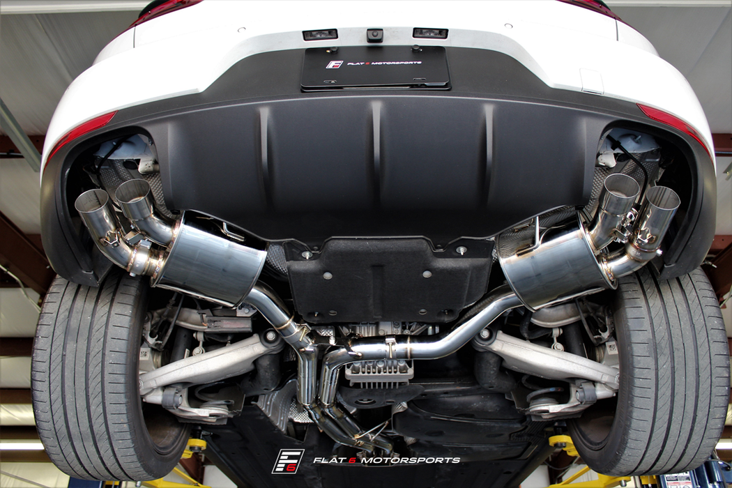 Agency Power Valve Controlled Catback Exhaust (Macan Turbo) - Flat 6 Motorsports - Porsche Aftermarket Specialists