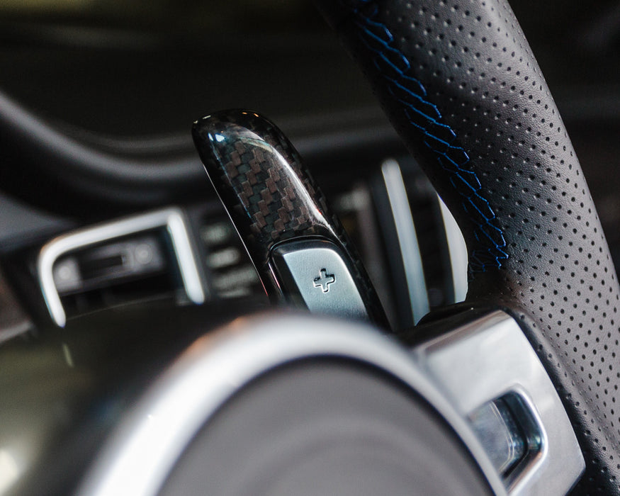 Agency Power Carbon Fiber Add-on PDK Paddle Shifters - Flat 6 Motorsports - Porsche Aftermarket Specialists