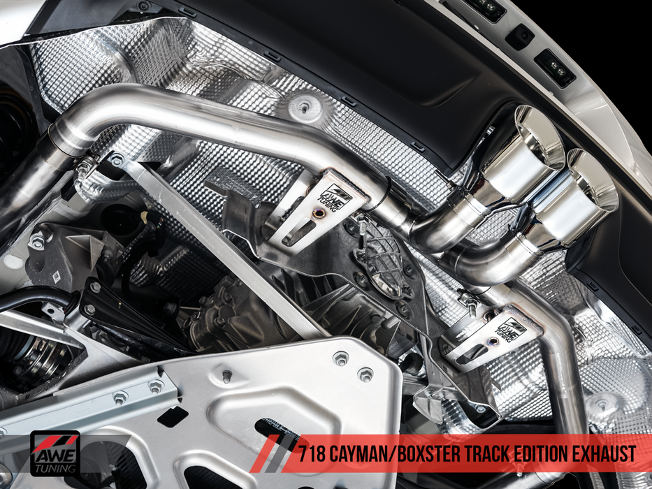 AWE Tuning Exhaust System (Cayman / Boxster 718) - Flat 6 Motorsports - Porsche Aftermarket Specialists