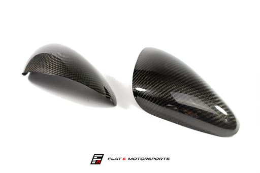 Agency Power Carbon Fiber Mirror Covers (Cayman / Boxster 981) - Flat 6 Motorsports - Porsche Aftermarket Specialists
