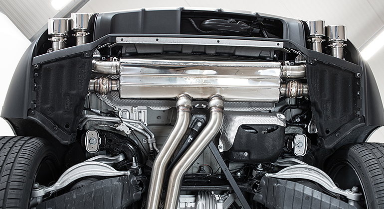 Cargraphic Catback Exhaust System (Cayenne Turbo 9YA)