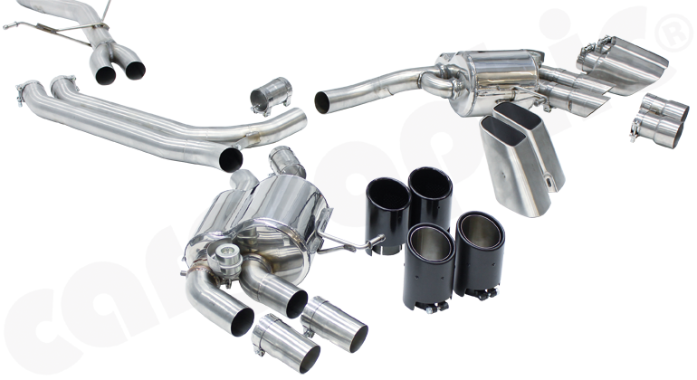 Cargraphic Cat-Back Sport Valved Exhaust System (Macan 2.0T) - Flat 6 Motorsports - Porsche Aftermarket Specialists