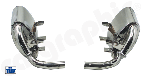 Cargraphic Sport Rear Silencer Sets (996 Carrera) - Flat 6 Motorsports - Porsche Aftermarket Specialists