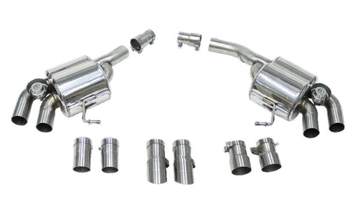 Cargraphic Valved Sport Rear Silencer Set (Macan Turbo) - Flat 6 Motorsports - Porsche Aftermarket Specialists