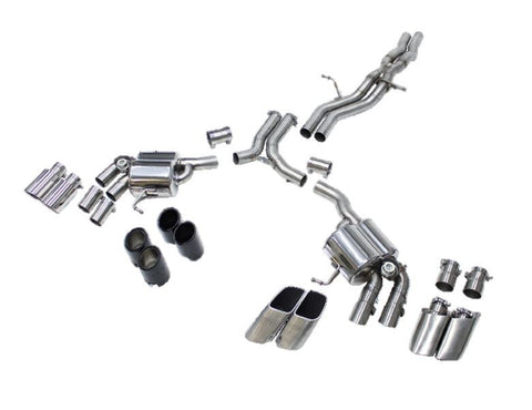 Cargraphic Cat-Back Sport Valved Exhaust System (Macan Turbo) - Flat 6 Motorsports - Porsche Aftermarket Specialists