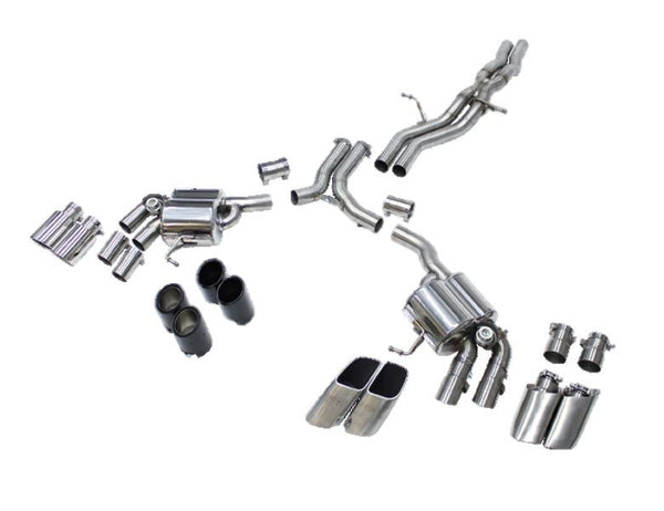 Cargraphic Cat-Back Sport Valved Exhaust System (Macan S