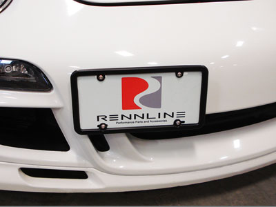 Rennline Tow Hook Receiver - Billet License Plate Mount (981)