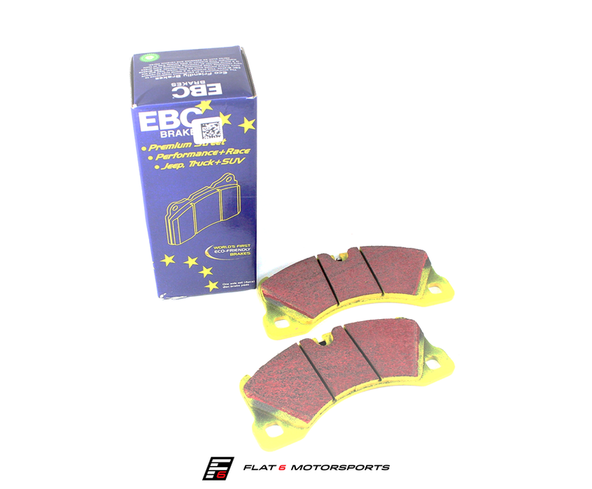 EBC Yellowstuff Ceramic Front Brake Pads (06 Cayman S / Boxster S 987) - Flat 6 Motorsports - Porsche Aftermarket Specialists