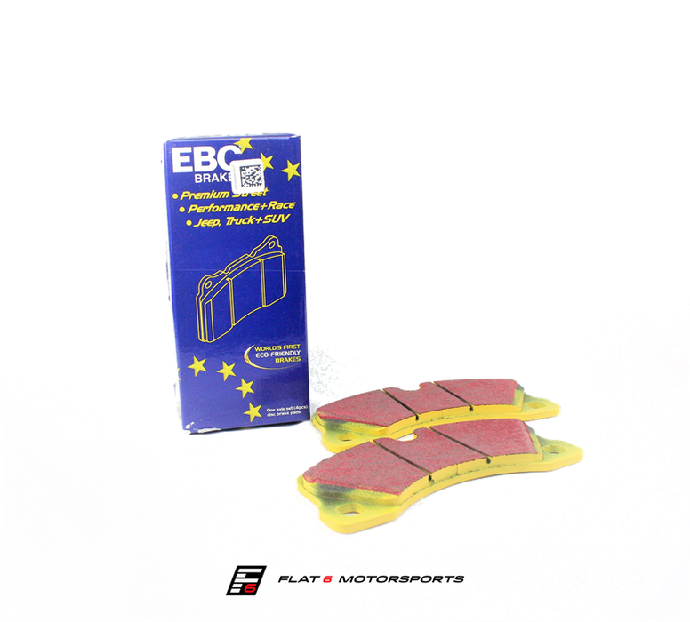 EBC Yellowstuff Ceramic Rear Brake Pads (Cayman / Boxster 981) - Flat 6 Motorsports - Porsche Aftermarket Specialists