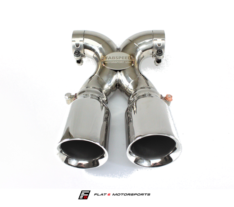 Fabspeed Deluxe Bolt-On Tips (Cayman / Boxster 981) - Flat 6 Motorsports - Porsche Aftermarket Specialists