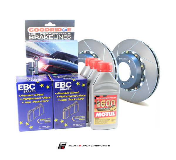 Flat 6 Motorsports - Track Brake Kit - Advanced (981 Cayman / Boxster)