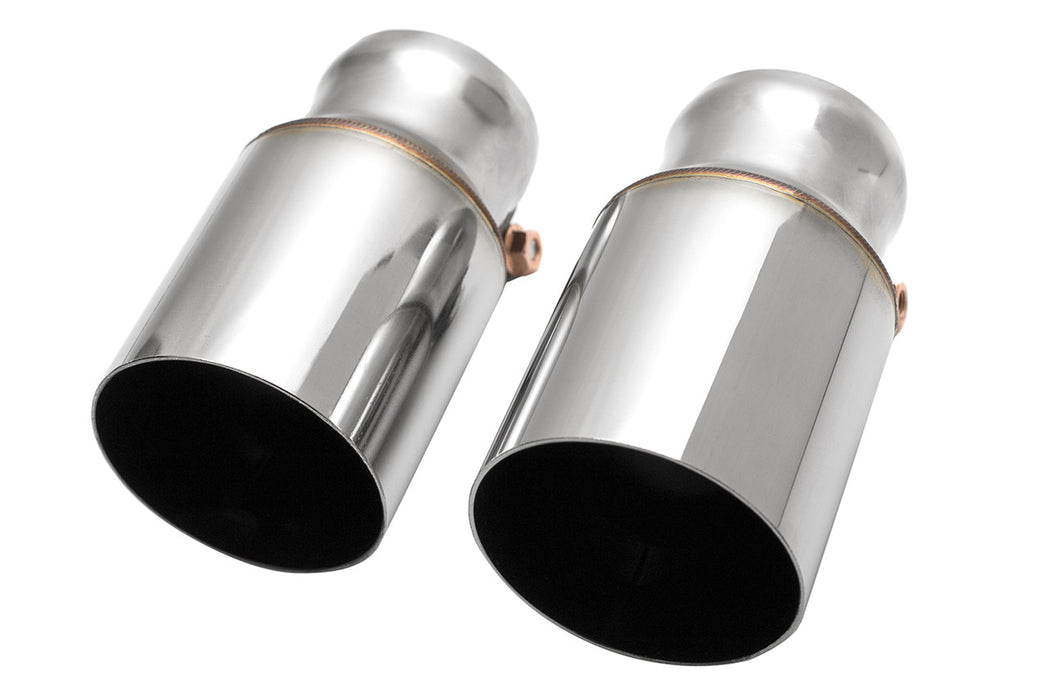 Fabspeed Deluxe Bolt-On Tips for OEM Mufflers (Cayman / Boxster 718) - Flat 6 Motorsports - Porsche Aftermarket Specialists