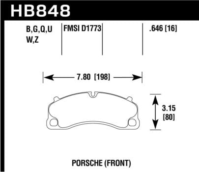 Hawk DTC-70 Front Track Brake Pads (991 Turbo & GT3)