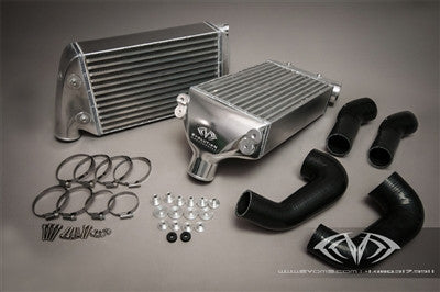 EVOMS Clubsport Intercooler Set with Silicone Boost Hoses (997.1 Turbo) - Flat 6 Motorsports - Porsche Aftermarket Specialists