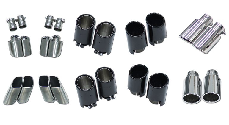 Cargraphic Exhaust Tips (Macan) - Flat 6 Motorsports - Porsche Aftermarket Specialists