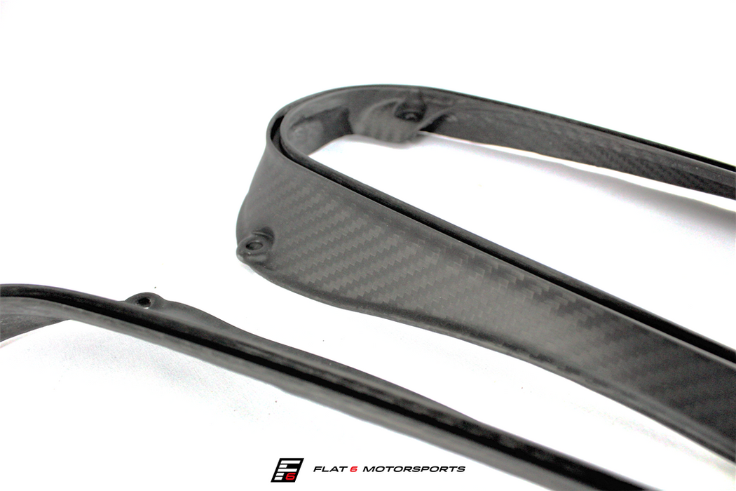 Flat 6 Motorsports High Flow Carbon Fiber Intake Ducts (Macan) - Flat 6 Motorsports - Porsche Aftermarket Specialists