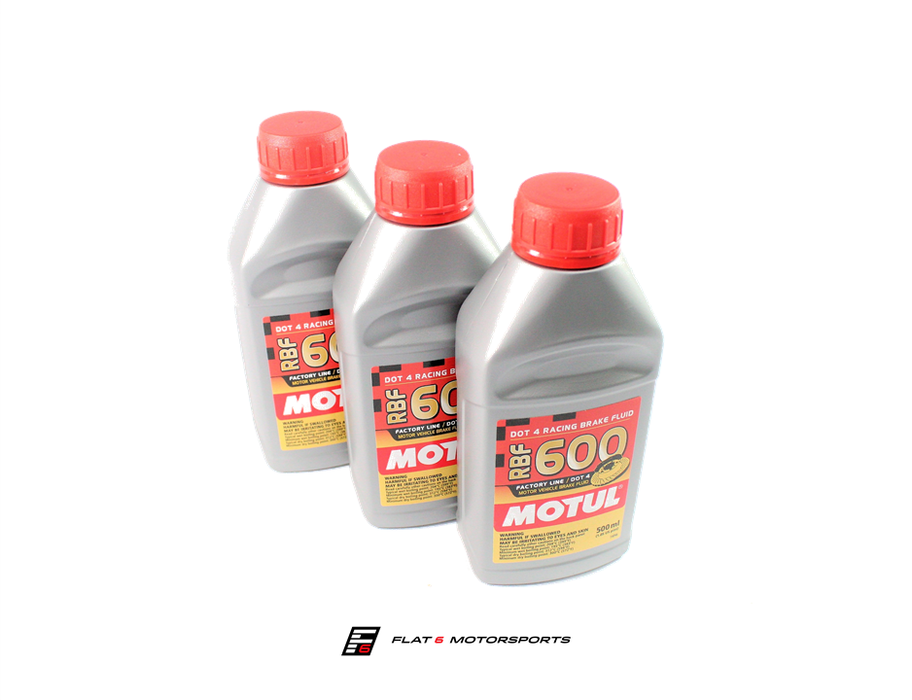 Motul 100% Synthetic RBF 600 - Racing Brake Fluid DOT 4 (0.5L)