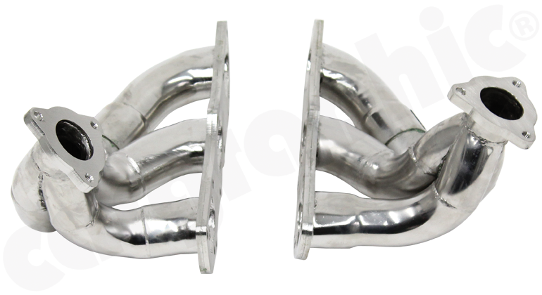 Cargraphic Stainless Steel Sport Manifold Set (991 Turbo) - Flat 6 Motorsports - Porsche Aftermarket Specialists