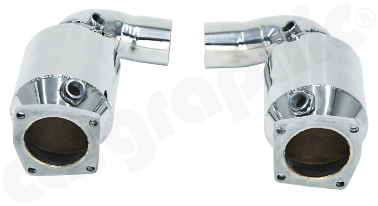 Cargraphic Stainless Steel Sport Catalytic Converter Set (991 Turbo)