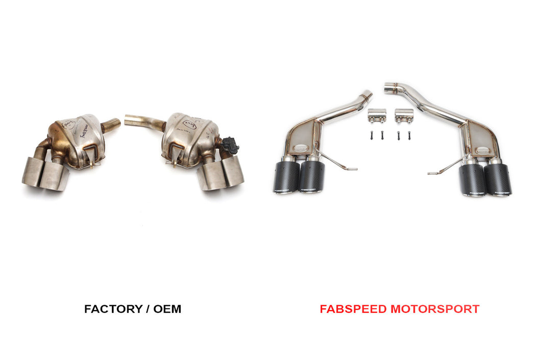 Fabspeed Rear Slip-on Sport Exhaust (Macan)