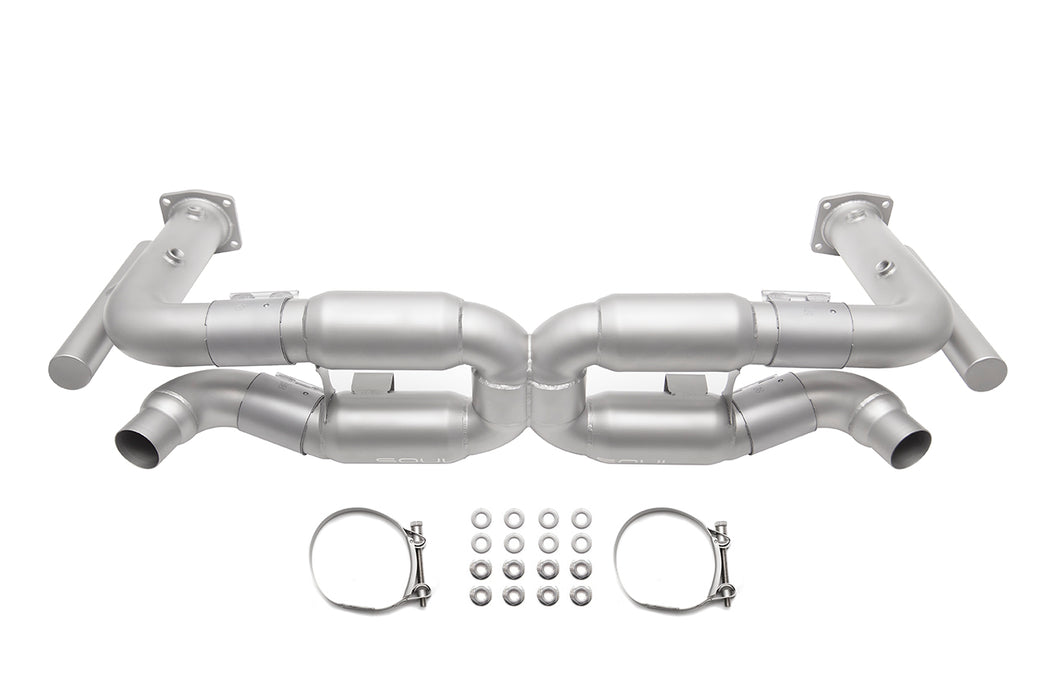 Soul Performance Products - Competition X-Pipe Exhaust System (996 Turbo) - Flat 6 Motorsports - Porsche Aftermarket Specialists