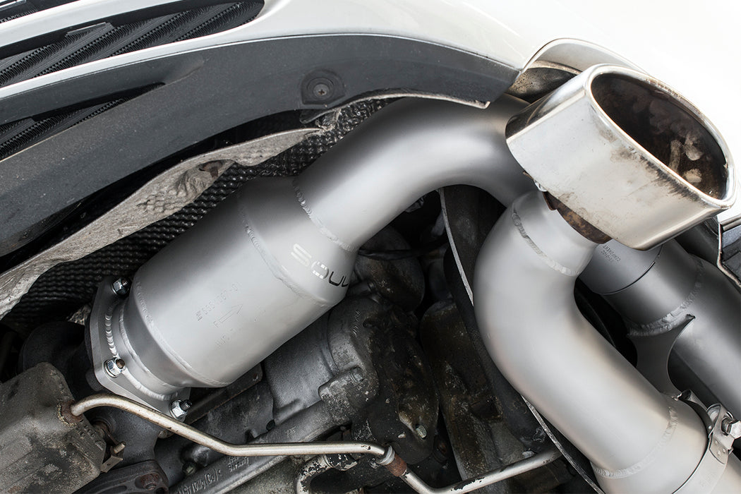 Soul Performance Products - Sport X-Pipe Exhaust System (996 Turbo) - Flat 6 Motorsports - Porsche Aftermarket Specialists