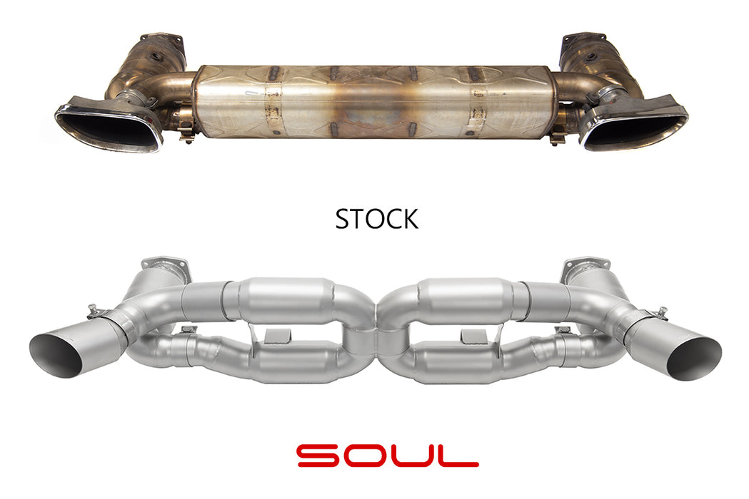 Soul Performance Products - Sport X-Pipe Exhaust System (997.2 Turbo) - Flat 6 Motorsports - Porsche Aftermarket Specialists