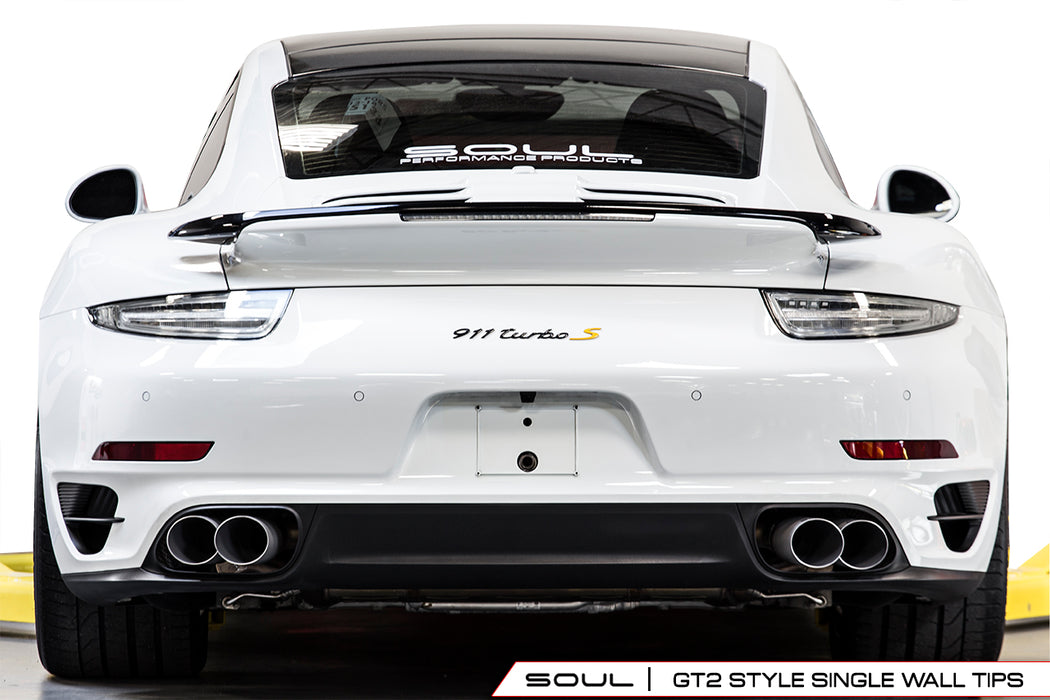 Soul Performance Products - Competition X-Pipe Exhaust System (991 Turbo) - Flat 6 Motorsports - Porsche Aftermarket Specialists