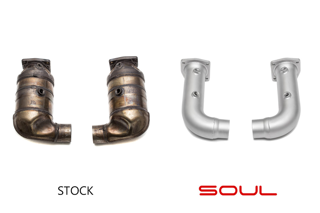Soul Performance Products - Cat Bypass Pipes (997.2 Turbo) - Flat 6 Motorsports - Porsche Aftermarket Specialists