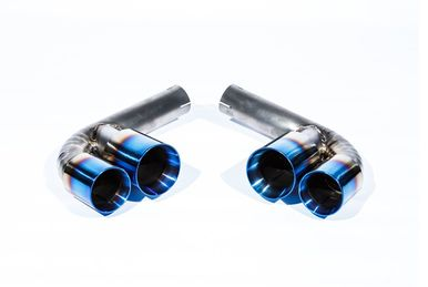 Top Speed Pro 1 Titanium Muffler Bypass Pipes w/ Quad Tips (996 Carrera / GT3)