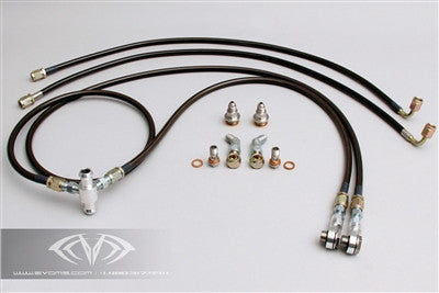 EVOMS Turbocharger Water Cooling Kit (996 Turbo) - Flat 6 Motorsports - Porsche Aftermarket Specialists