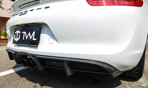TWL Carbon - Rear Carbon Diffuser (Cayman / Boxster 981)