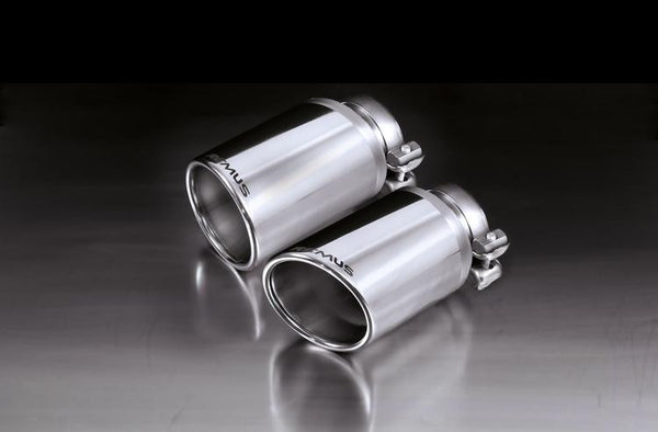 Remus Chrome Tail Pipe Set (Macan) - Flat 6 Motorsports - Porsche Aftermarket Specialists