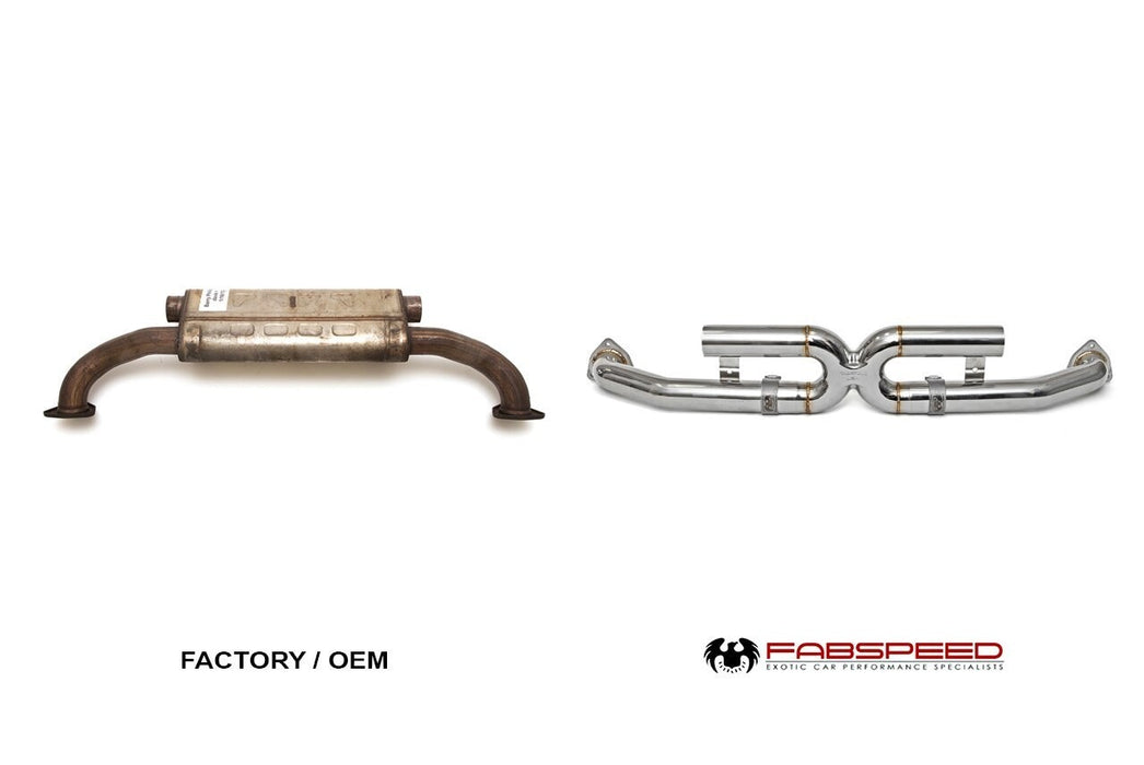 Fabspeed Center Muffler Bypass X-pipe (997.2 Carrera)