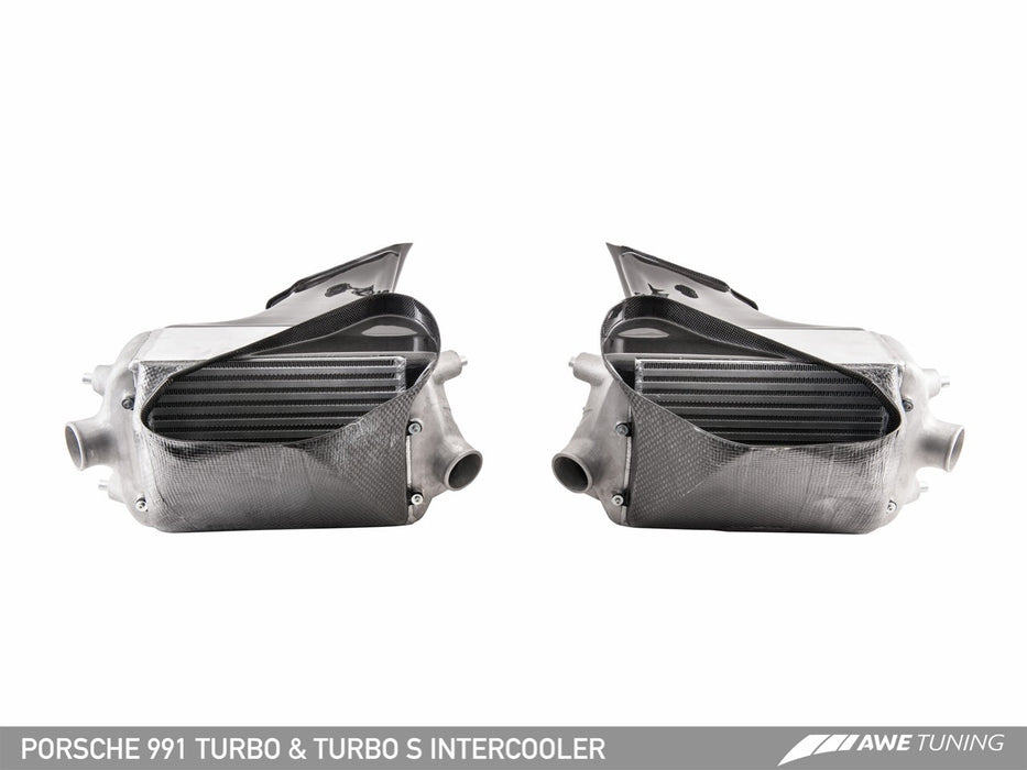 AWE Tuning Performance Intercooler Kit (991 Turbo) - Flat 6 Motorsports - Porsche Aftermarket Specialists