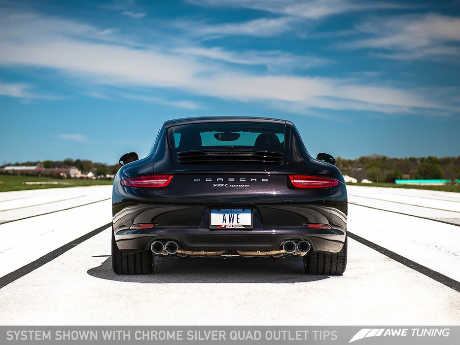 AWE Tuning Performance Exhaust (991.1 Carrera) - Flat 6 Motorsports - Porsche Aftermarket Specialists