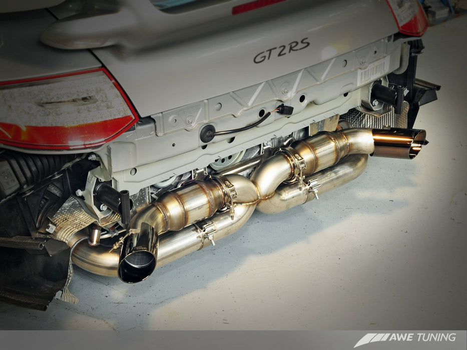 AWE Tuning Performance Exhaust System (997 GT2 RS) - Flat 6 Motorsports - Porsche Aftermarket Specialists