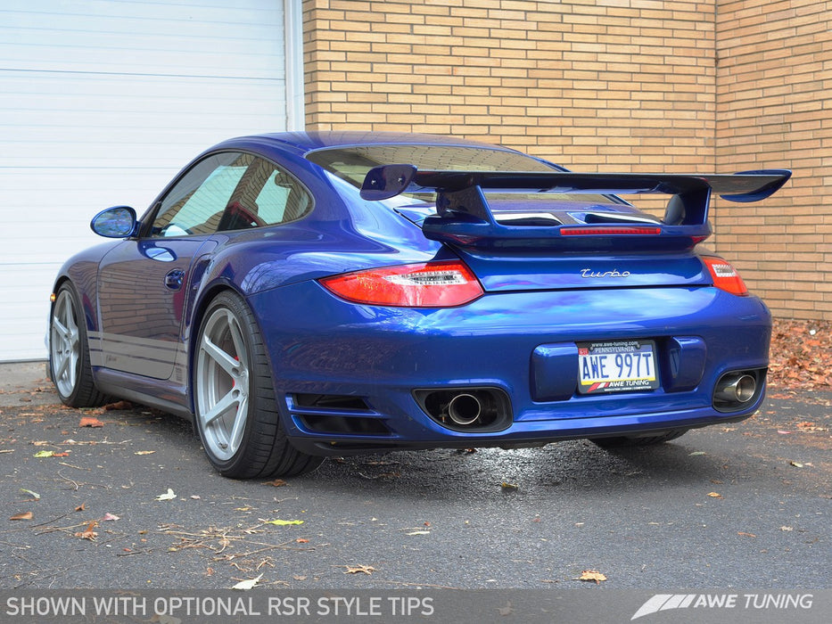 AWE Tuning Performance Exhaust System (997.2 Turbo) - Flat 6 Motorsports - Porsche Aftermarket Specialists
