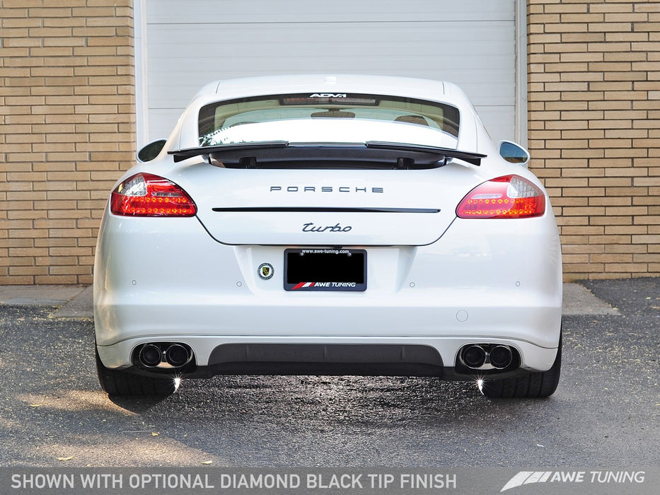 AWE Tuning Exhaust System (Panamera Turbo) - Flat 6 Motorsports - Porsche Aftermarket Specialists