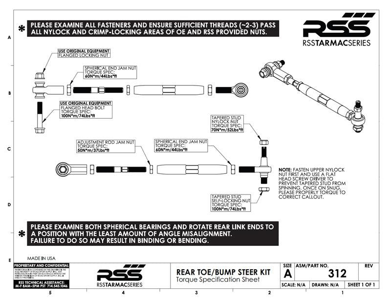 RSS Adjustable Rear Toe/Bump Steer Kit (Cayman / Boxster 981) - Flat 6 Motorsports - Porsche Aftermarket Specialists